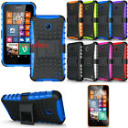 Hybrid Impact Armor Rugged Hard Case Cover Stand For Nokia Lumia 630 635 + Film