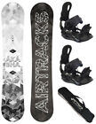 SNOWBOARD SET AIRTRACKS GRID WHITE+SOFTBINDUNG SAVAGE+BAG/145 150 153 159cm/NEU!