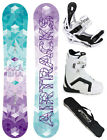DAMEN SNOWBOARD SET AIRTRACKS AKASHA ROCKER+BINDUNG+BOOTS+BAG/144 147 150 153cm/