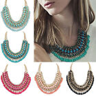 Women Jewelry Pendant Chain Crystal Choker Chunky Collar Statement Bib Necklace