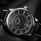 KS 4 Colours Automatic Mechanical Date Display Leather Mens Sport Wrist Watch
