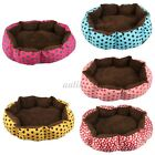 Small Large Dot Pet Dog Puppy Cat Soft Warm Nest Bed House Plush Pad Cotton Mat