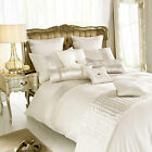 Madaline Oyster Duvet Quilt Cover With Embroidered Lace Trim by Kylie Minogue