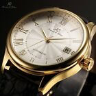 KS 4 Colours Automatic Mechanical Date 40MM Dial Leather Mens Wrist Watch Gift