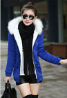 Girl Long Sleeve Fur Neck Cotton Solid Body Con Down Warm Zipper Plus Basic Coat