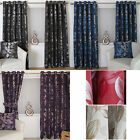 Ring Top Eyelet Lined Curtains Luxurious Jacquard Trailing Leaf Heidi Design