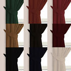 Velour Velvet Plain Dyed Pair Of Tie Backs For Contemporary & Traditional Rooms