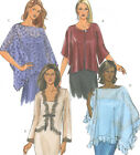 Misses Shrug Poncho Sewing Pattern Buttons Ties Round Neck Easy Butterick 4459