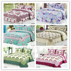 Dotted&Checked Design Queen Size New 100% Cotton Quilted Bedspread/Coverlet Set