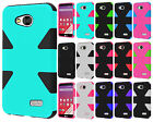 For MetroPCS LG Optimus F60 IMPACT TUFF HYBRID Case Skin Phone Cover Accessory