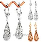 Womens Fashion Jewelry Silver/Gold Hollow Chandelier Dangle Ear Drop Earrings