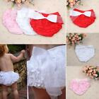 Toddler Baby Girls Bow Shorts Ruffle PP Pants Bloomers Diaper Nappy Cover 1-3Y