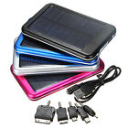 5-in-1 5000mAh Solar Charger External Battery Power Bank For CellPhone Universal