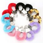 FURRY SEXY FUZZY LADIES HANDCUFFS ADULT FUN HEN PARTY ANIMAL FUR METAL WRIST
