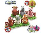BRAND NEW WEEBLEDOWN FARM ANIAMLS WEEBLES TOY ON BASE UNIT SIX TO COLLECT