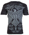 Xtreme Couture AFFLICTION Mens T-Shirt CONNECT Eagle BLACK Tattoo Biker $40 image