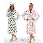 Womens/Ladies Dog Paw Fleece Dressing Gown/Bath Robe Size 10, 12, 14, 16, 18, 20