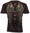 Rebel Saints AFFLICTION Men T-Shirt STONE SPIKER Wing Tattoo Biker UFC M-XXL $40