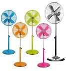 "Metal Colour 16"" Fan Stand Cool Retro Vintage Oscilating Pedestal Electric Value"