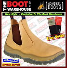 Mongrel 940050 Work Boots. Soft Toe Comfort, Wheat, Elastic Sided,  FULLY LINED!