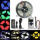 Bright 5M 16.4ft 5050 SMD 300 LED Waterproof Strip Light 12V + Power Controller