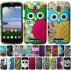For Alcatel OneTouch Pop Mega LTE A995G D472 Owl Snap On HARD Case Cover