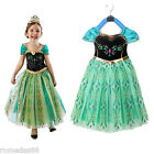 Внешний вид - Lovely Frozen Princess Anna Cosplay Dress with Crown Wand Braid