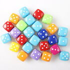 100/500pcs 112674 New Fashion Mix Colors Square Dices Charms Loose Acrylic Beads