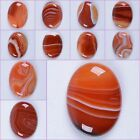 40mm Red Brazilian agate oval cab cabochon*each one pictured*