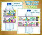 20  Cookie Monster WATER BOTTLE LABELS Birthday Party Favor Boy Girl / Sesame St
