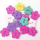 250/1250pcs Hotsale New Dots Colors Star&Flowers Charms Wooden Sew-on Buttons