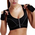 Women's High Impact Front Zipper Sports Bra(One Cup Size Runs Small)