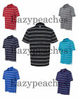 ADIDAS GOLF NEW Climalite Mens Size S-3XL Pure Motion STRIPE Polo Sport Shirt