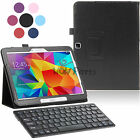 PU Leather Case+Bluetooth 3.0 Keyboard for Samsung Galaxy Tab 4 10.1 SM-T530 New
