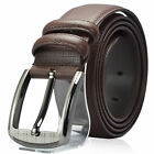 Mens Genuine Leather Belt Casual Business Classic Style Black Brown