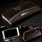 For iPhone Samsung Galaxy Case Luxury Leather Magnetic Flip Wallet Stand Cover