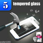 5x TEMPERED GLASS for iPhone 6+ 6 5 5S 5C 4 Premium Slim Screen Protector Film ~