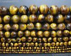 Natural Gemstone Tiger's Eye Round Beads 2mm 4mm 6mm 8mm 10mm 12mm 16mm 15.5''