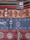 Southwest Wallpaper Border:Mojave Sand Painting Lizard or Stripe La Joya NEW