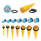 Licensed Adventure Time Plug & Taper Set - Finn & Jake Gauged Jewelry 1/2