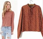 New Elegant Europe Vintage Floral Long Sleeves Slim Tops Blouse Shirts S M L