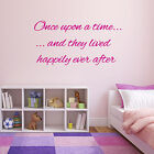 Nursery wall sticker set - once upon a time and they lived happily ever after