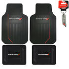 New Dodge Elite Series Car Truck Front / Rear All Weather Rubber Floor Mats Set $44.45 USD on eBay