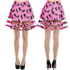 Too Fast Ginned Up Unicorn Carousel Skirt Pink Punk Gothic Tulle