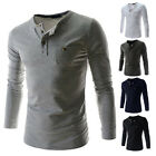 L,M,S,XS New Men's Slim Fit Shirt Long Sleeve T-Shirt Casual Tee Cotton Polo Top