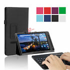 PU Leather Stand Case Cover w/Bluetooth Keyboard for Dell Venue 8 7000 Tablet