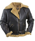 RAF LEATHER sheepskin PILOT reenactor flying bomber jacket NEW coat brown s m l