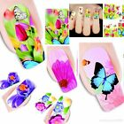 Nail Art  Full Wrap Flower Water Transfer Slide Decals Stickers Decor 50 Choice