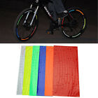 Bike Bicycle Fluorescent MTB Stickers Cycling Wheel Rim Reflective Decal
