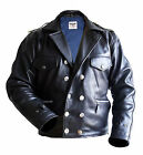 NEW german flying jacket PILOT flight COAT real leather BLACK reenactor wwll m l